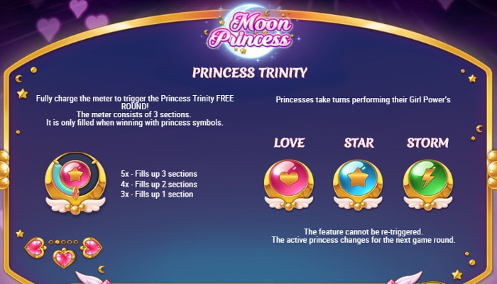 Бонусная опция Princess Trinity автомата Moon Princess